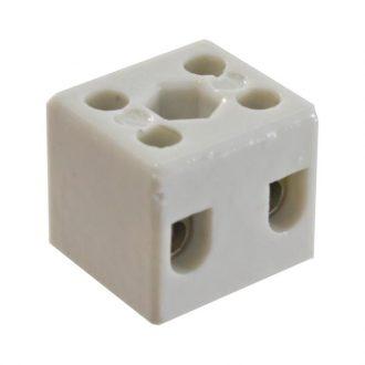 Caixa de Juncão Dupla em Porcelana