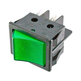 Comutador com sinalizador Verde 230V