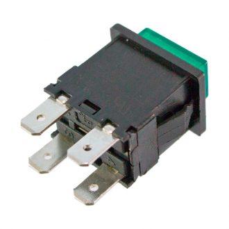 Pulsador com sinalizador Verde 230V
