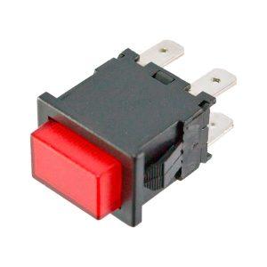 Pulsador com sinalizador Vermelho 230V