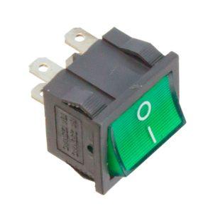 Interruptor bipolar com sinalizador Verde 230V