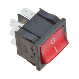 Interruptor bipolar com sinalizador Vermelho 230V