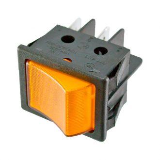 Pulsador com sinalizador Laranja 230V