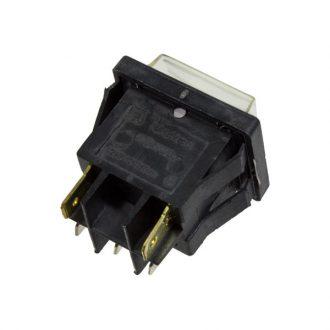 Comutador com sinalizador Branco 230V