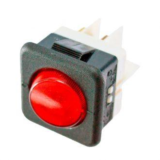 Interruprot com sinalizador Vermelho 230V