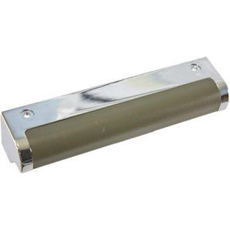 Puxador porta de Frigorifico Cromado/Castanho