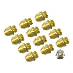 Kit Injetores do Queimador p/ Esquentador de 10L p/ Gás Natural