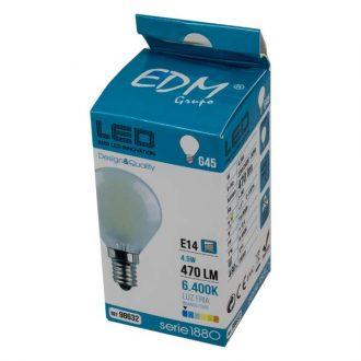 Lâmpada Led  Branco Frio E14 de 230V 4W